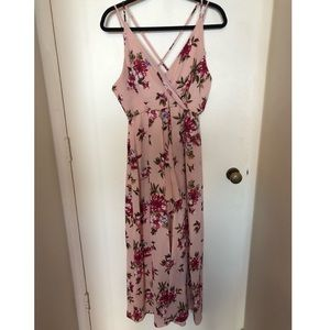 Floral Romper with Maxi Skirt